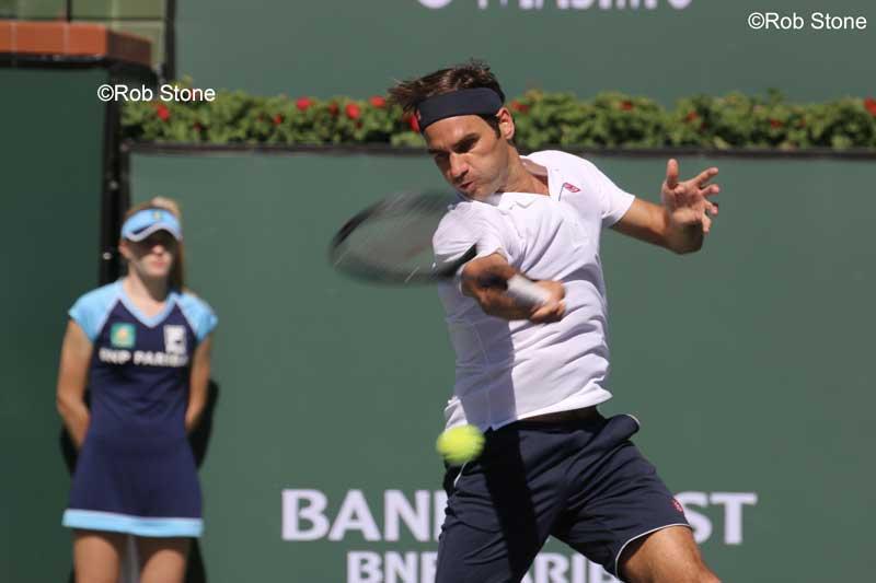 Roger Federer at Indian Wells 2019